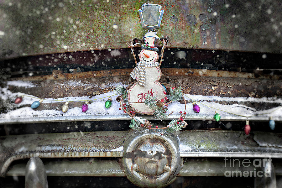 Merry Christmas From The Old Car Graveyard Photograph