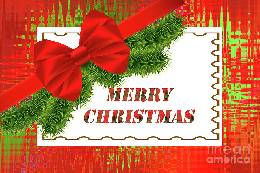 Merry Christmas Greeting by Regina Geoghan