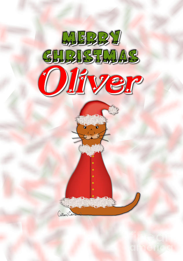 Merry Christmas Oliver by Colleen Cornelius