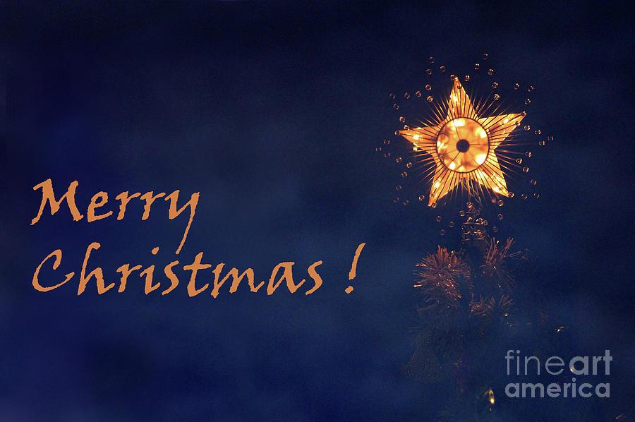 Star Photograph - Merry Christmas Star by Karen Adams