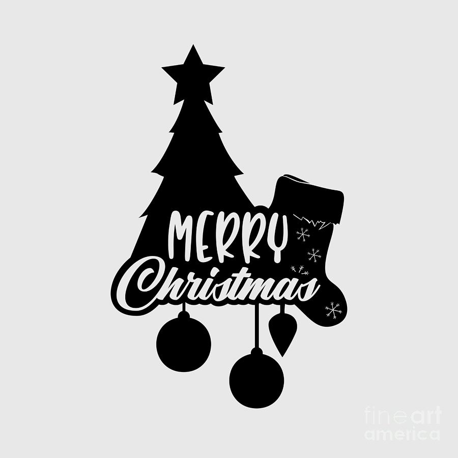 Merry Christmas Tree Gift Idea Funny Christmas Quote Xmas Slogan Digital Art By Funny Gift Ideas
