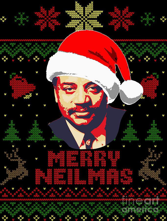 Merry Neilmas Neil Degrasse Tyson Christmas Digital Art by Filip Schpindel