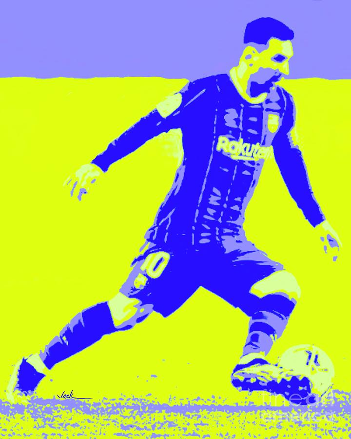 Messi Painting - Messi attack by Jack Bunds