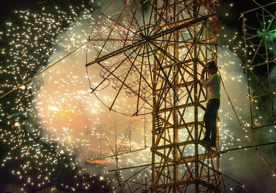 Fireworks Photograph - Mexican Firework Castle by Dane Strom