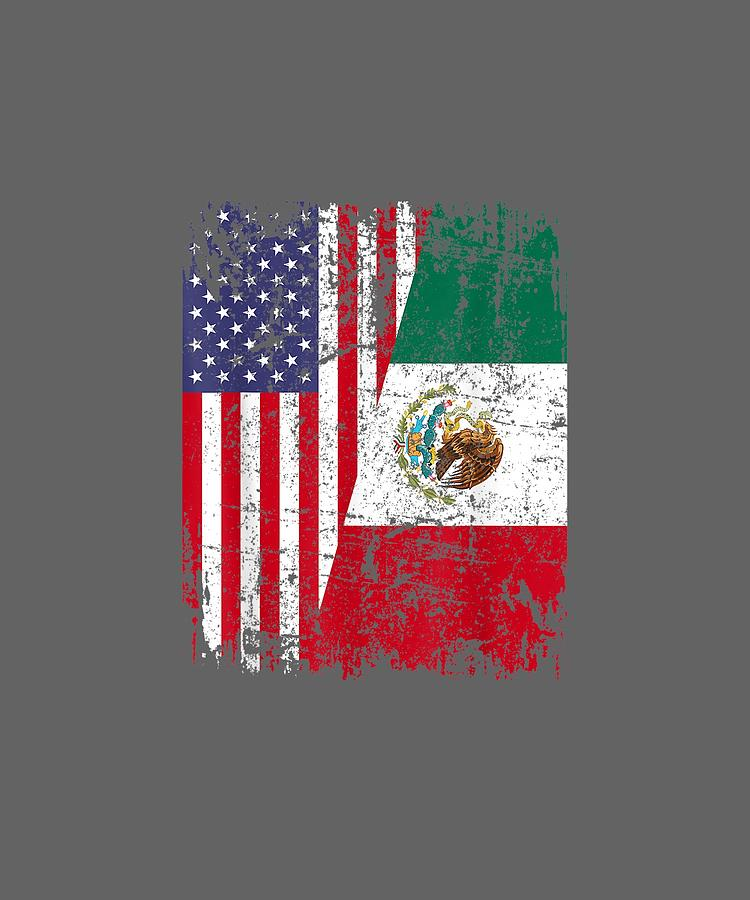 Mexican Flag Distressed Men/'s T-shirt Patriotic tee