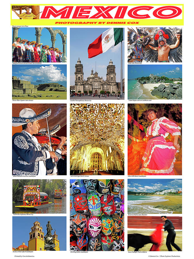 Mexico Travel Poster Photograph
