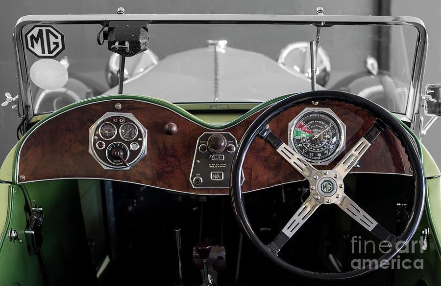 1940's Photograph - MG TC Midget Dashboard by Tony Camacho
