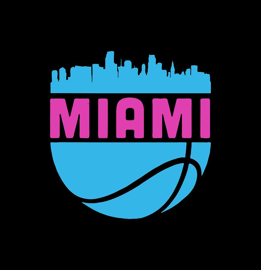 Miami Basketball Cityscape Digital Art