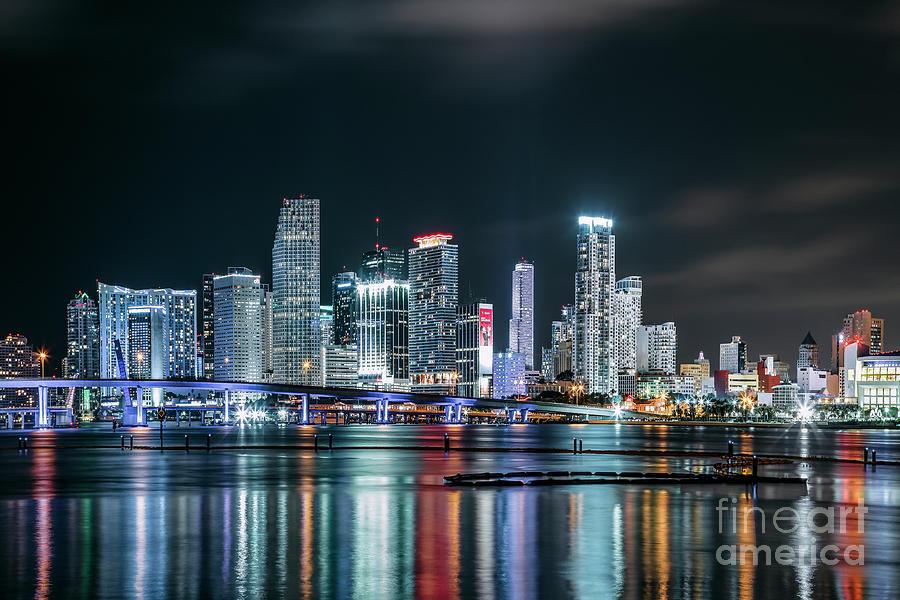 Miami Overnight Photograph
