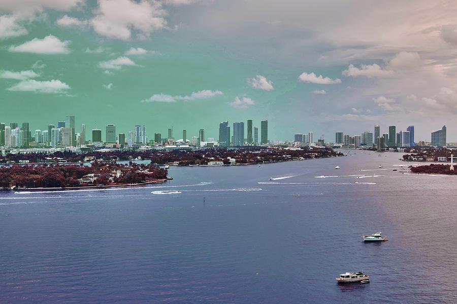 Miami Skyline, United States 2 - Surreal Art By Ahmet Asar Digital Art