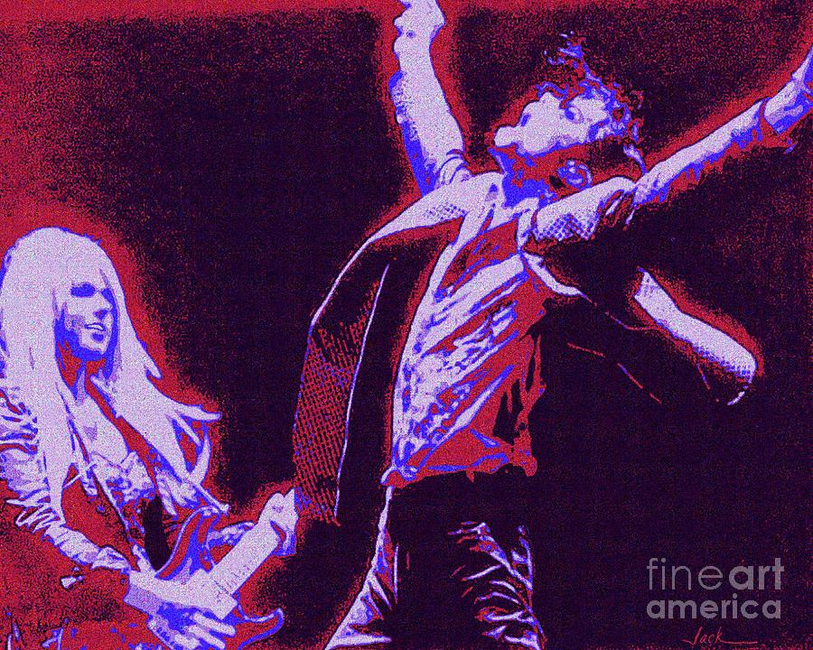 Michael Jackson Painting - Michael and Orianthi  by Jack Bunds