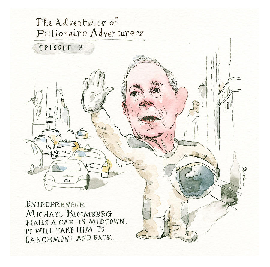 Michael Bloombergs Latest Incredible Feat  Painting by Barry Blitt