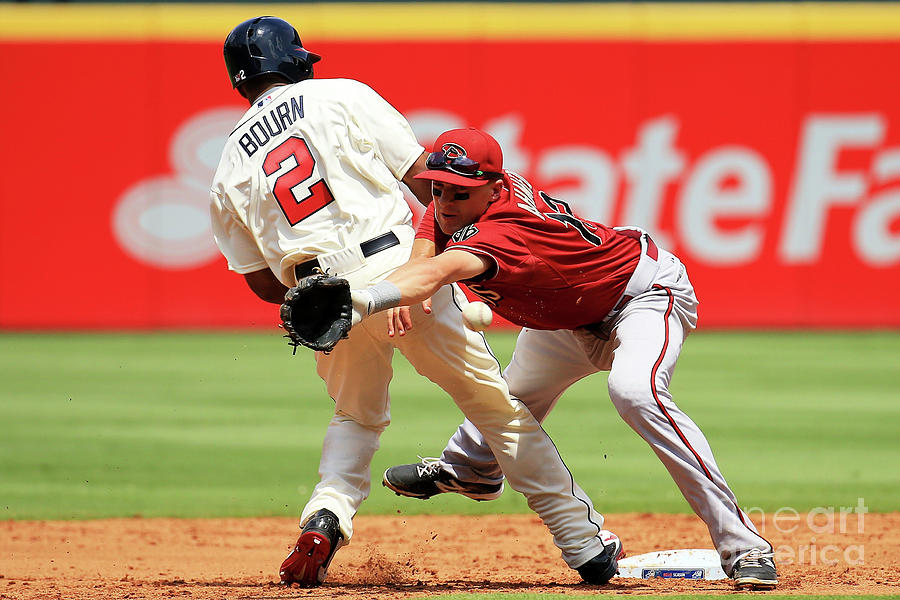 Michael Bourn and Nick Ahmed Photograph by Daniel Shirey