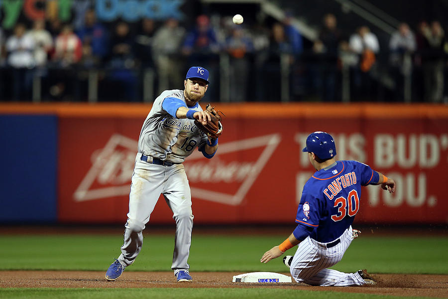 Michael Conforto and Ben Zobrist Photograph by Brad Mangin