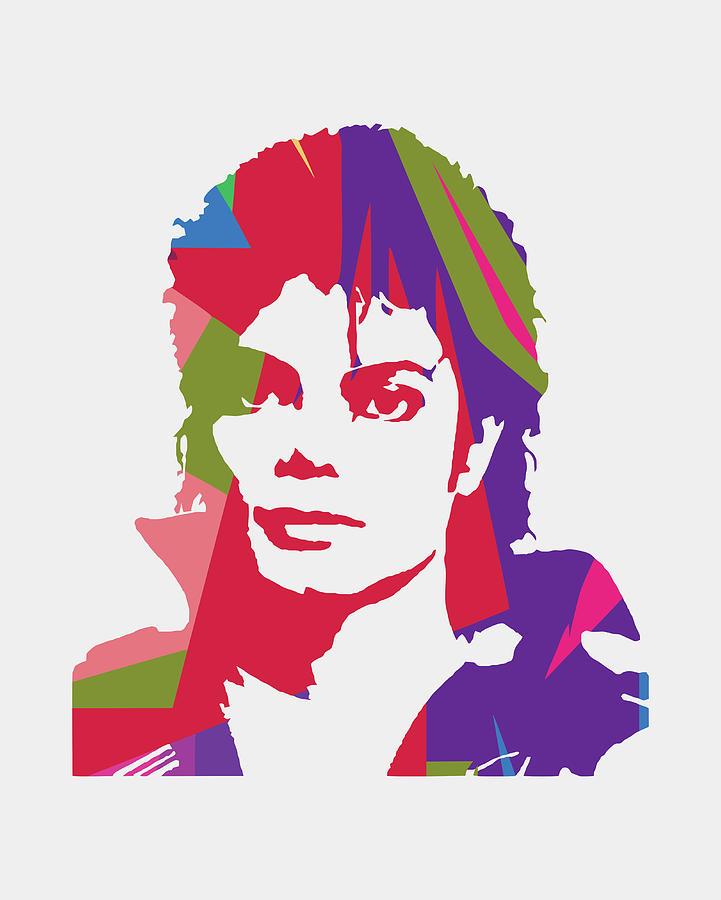 Michael Jackson Digital Art - Michael Jackson 2 POP ART by Ahmad Nusyirwan
