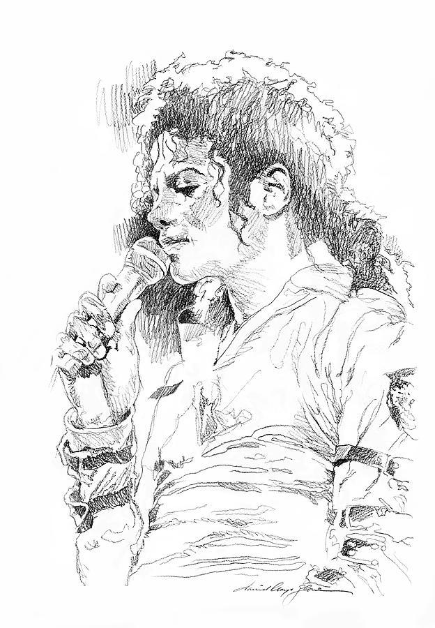 Michael Jackson Painting - Michael Jackson Emotion by David Lloyd Glover