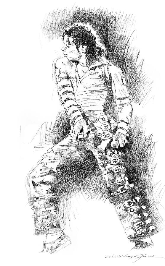 Michael Jackson Drawing - Michael Jackson - Onstage by David Lloyd Glover