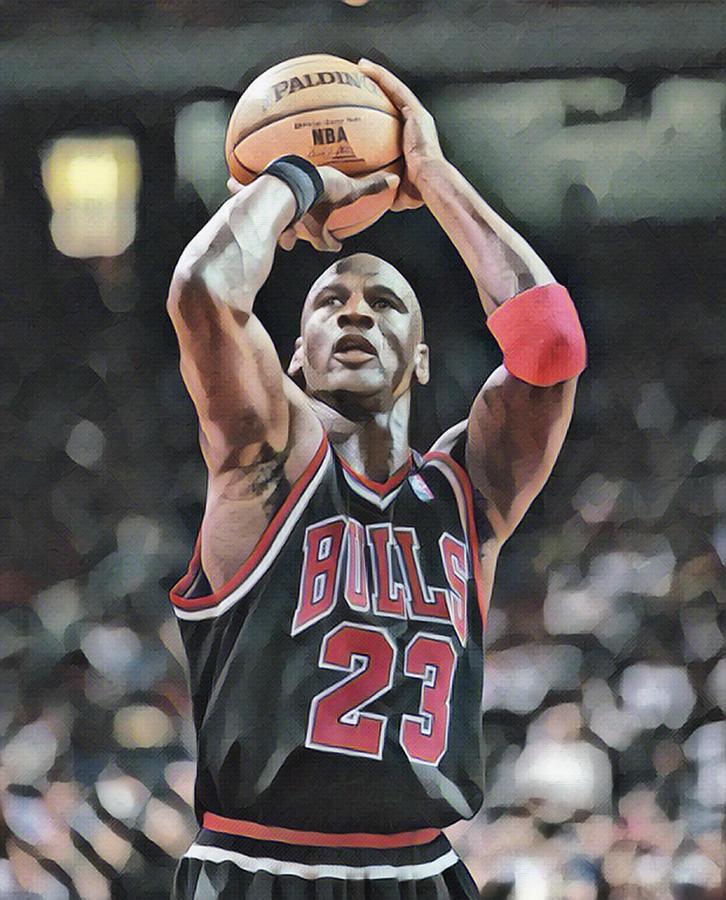 Michael Jordan Chicago Bulls Abstract