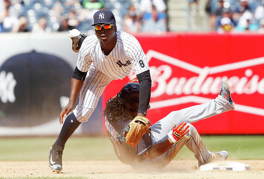 Michael Martinez And Didi Gregorius Photograph by Jim Mcisaac