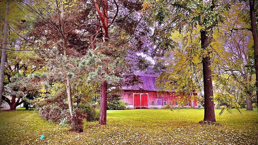 Michigan Barn During Autumn Photograph