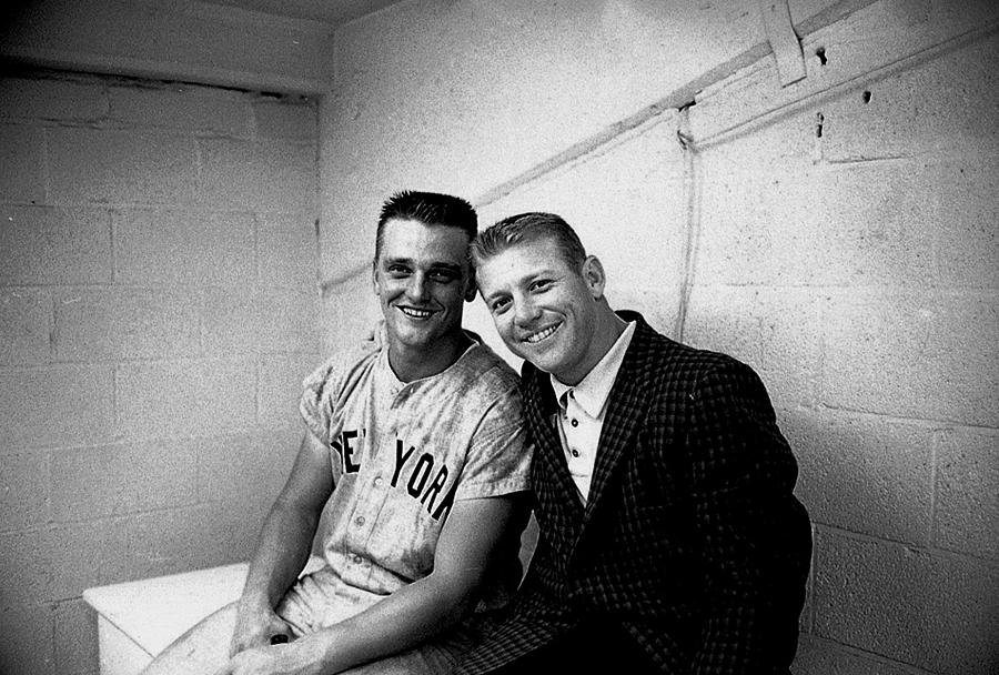 Mickey Mantle and Roger Maris Photograph by Herb Scharfman/sports Imagery
