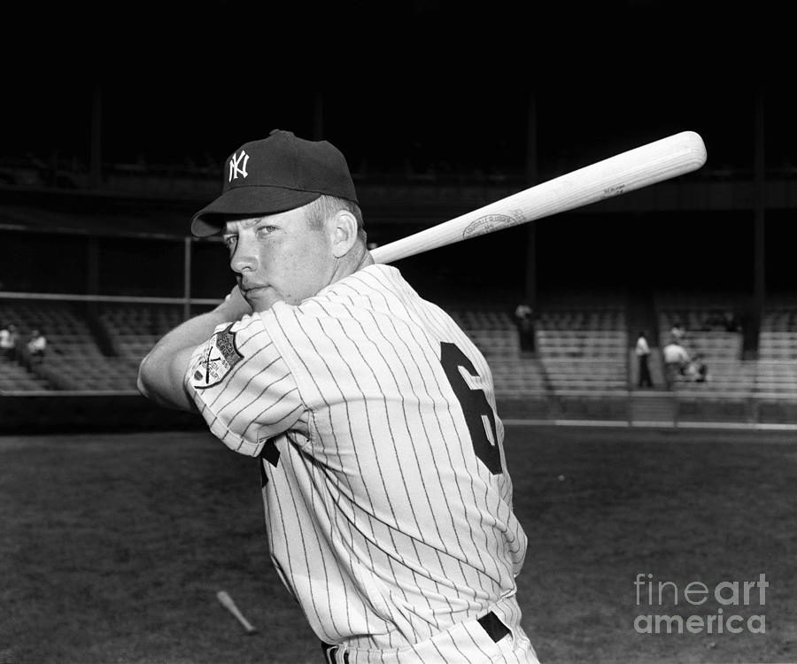 Mickey Mantle Photograph by Kidwiler Collection