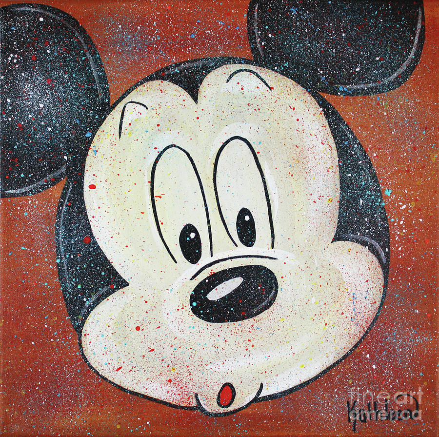 Mickey Mouse Hoo Painting