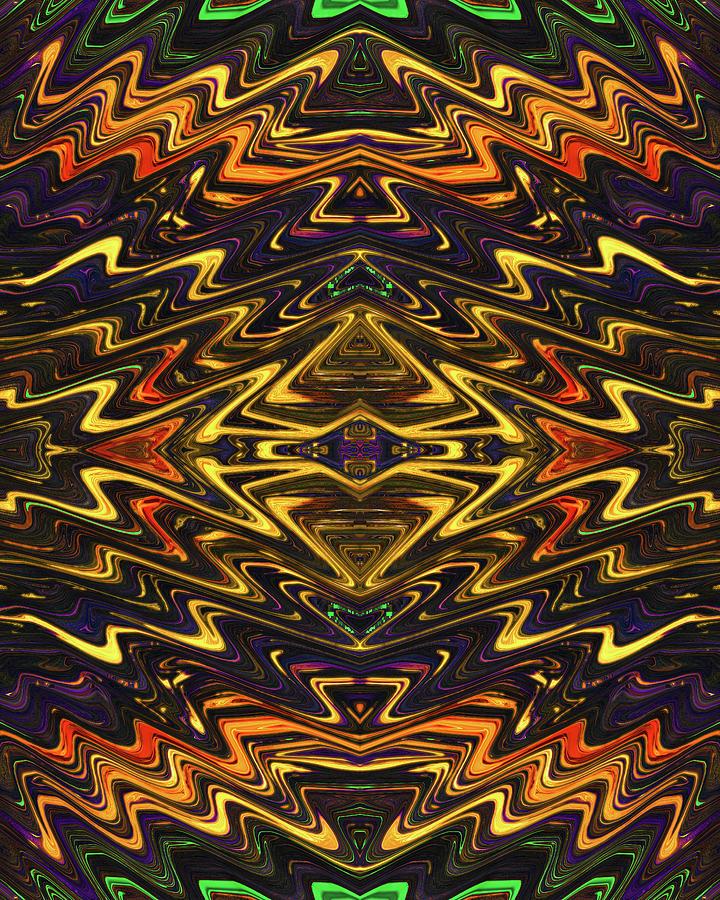 Microchip of an Ancient Mystic Digital Art by Jack Entropy