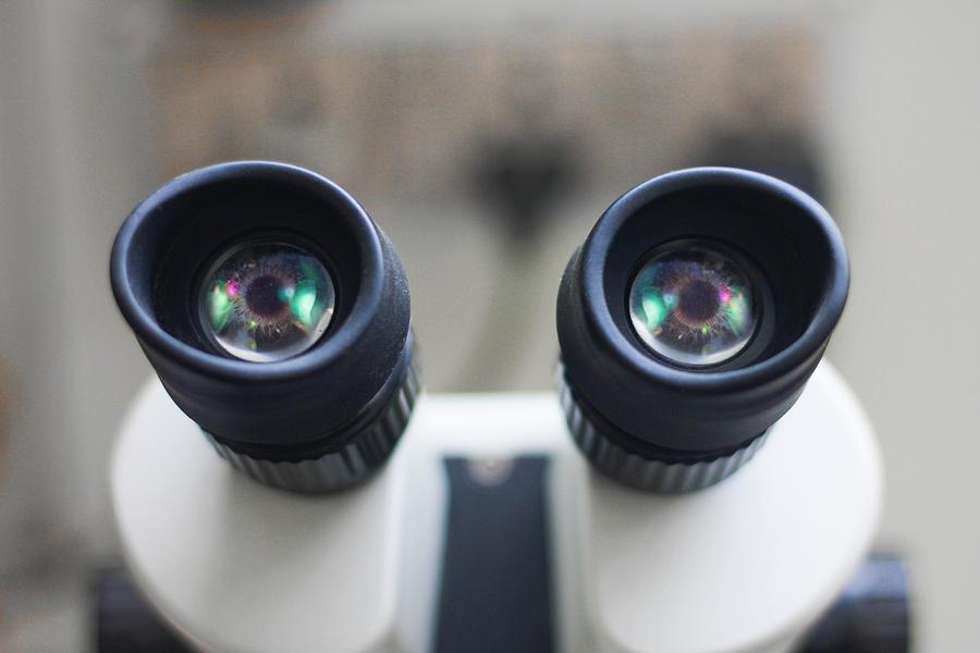 Microscope eyepiece Photograph by David Talukdar