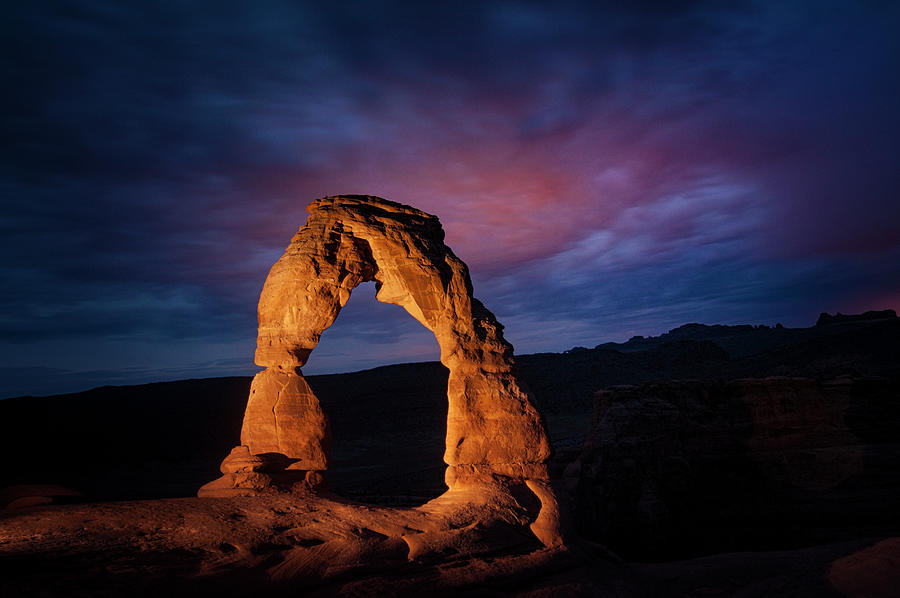 Arches National Park Photograph - Midnight at Arches by Jason Turuc