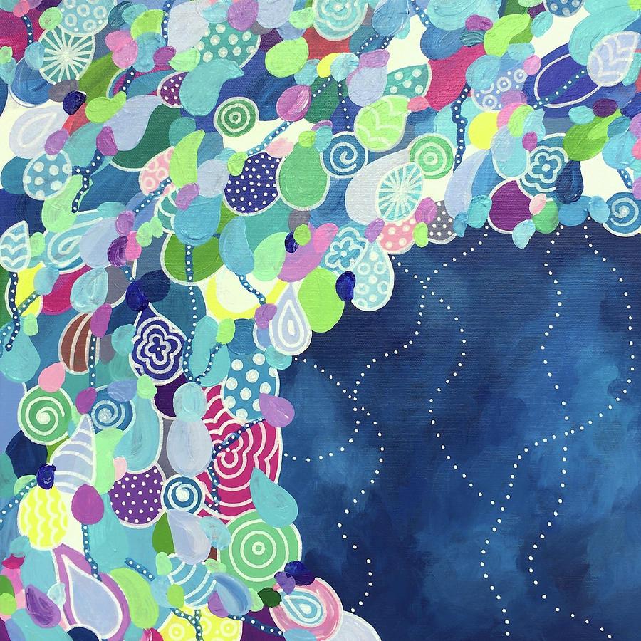 Waves Painting - Midnight by Beth Ann Scott