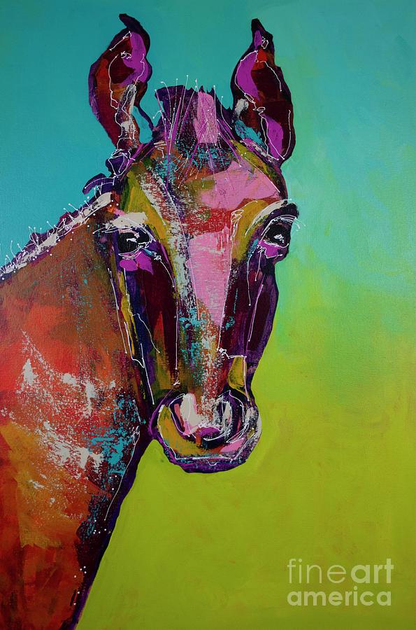 Midnight Ride II Painting by Robin Valenzuela