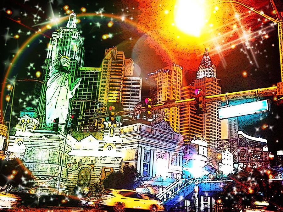 Midnight Sun Over NY-NY by Karen Buford