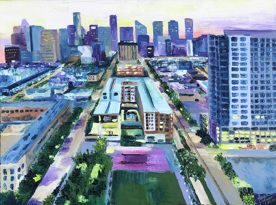 Midtown Painting - Midtown HOU by Lauren Luna