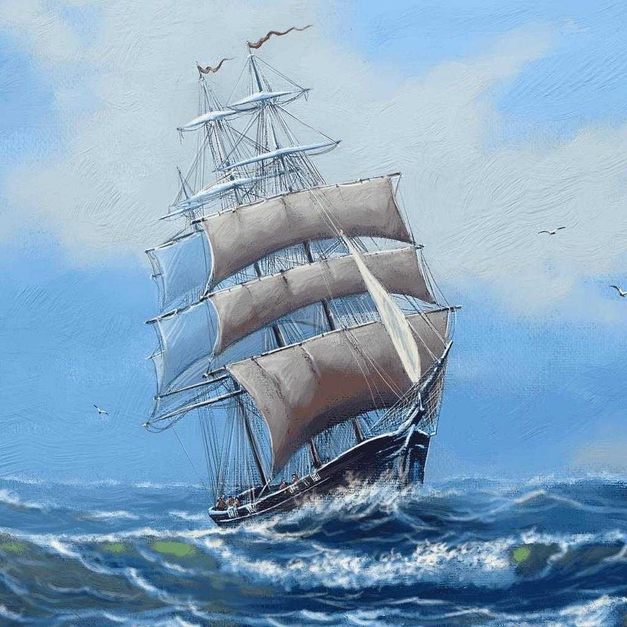 Mighty Sail Painting