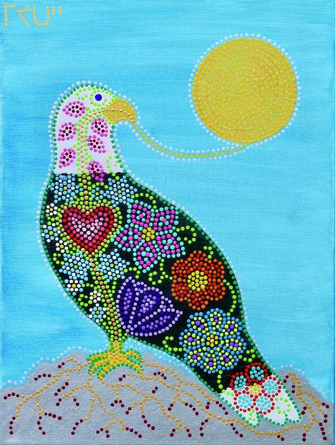 Indigenous Painting - Migizi Bald Eagle by Karlee Fellner