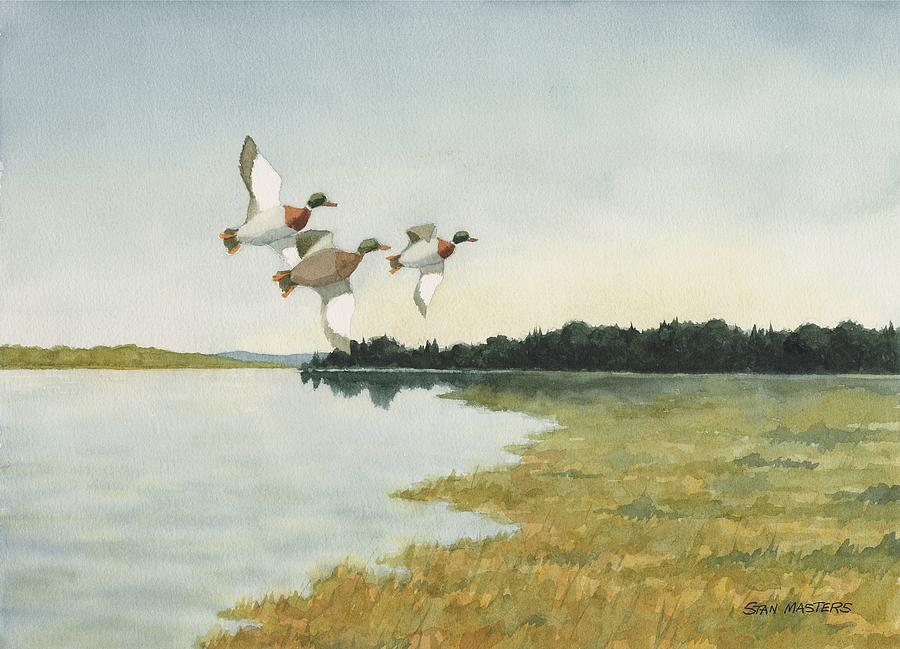Migration Painting by Stan Masters