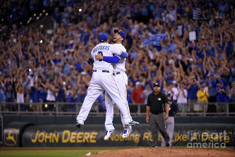 Mike Moustakas and Eric Hosmer Photograph by Ed Zurga