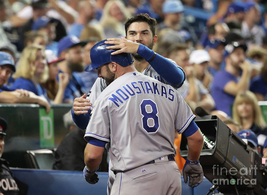 Mike Moustakas and Eric Hosmer Photograph by Tom Szczerbowski