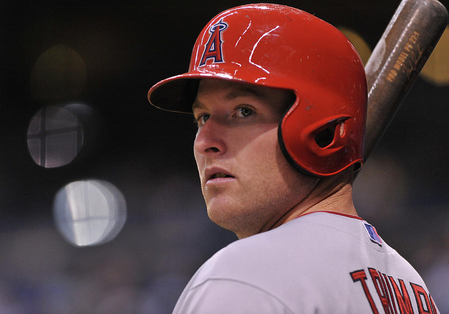 Mike Trout Photograph by Al Messerschmidt