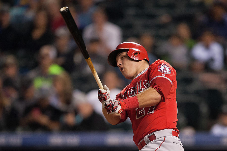 Mike Trout Photograph by Dustin Bradford
