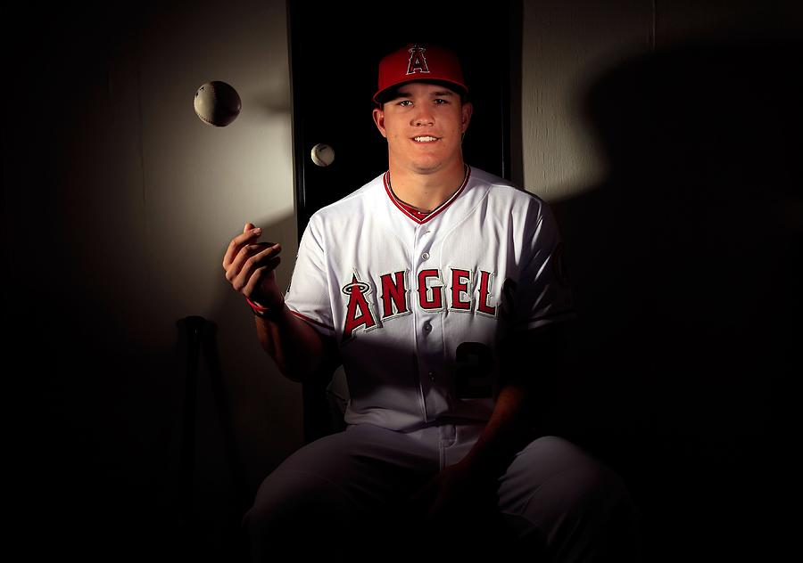 Mike Trout Photograph by Jamie Squire