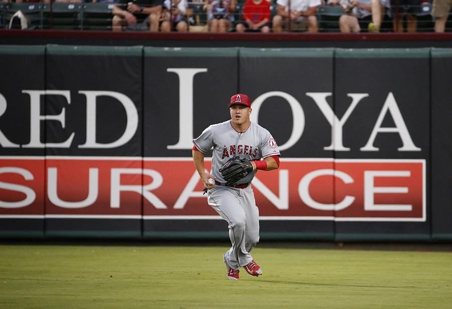 Mike Trout Photograph by Ron Jenkins