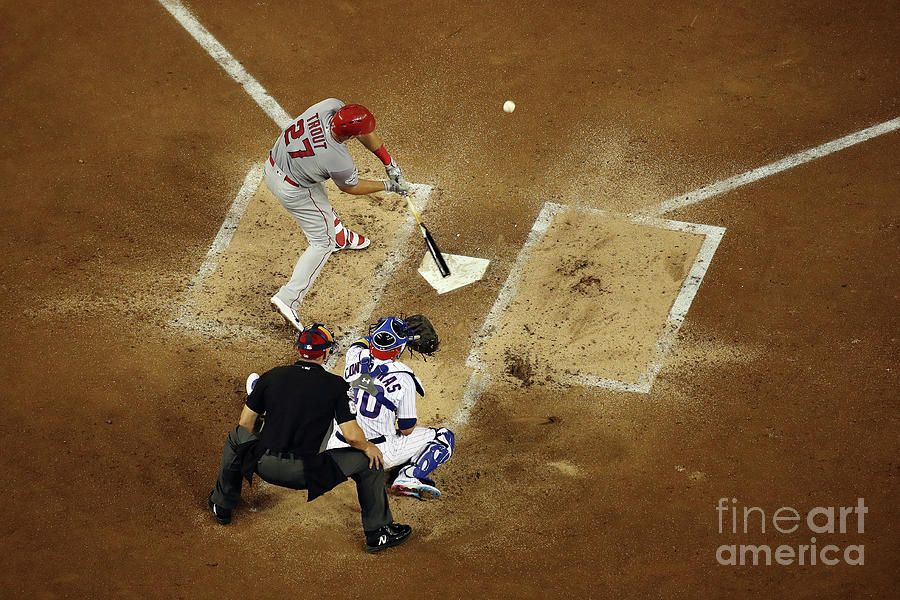 Mike Trout Photograph by Win Mcnamee