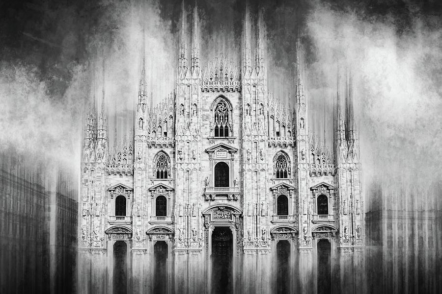 Milan Duomo Milan Italy Black And White Photograph