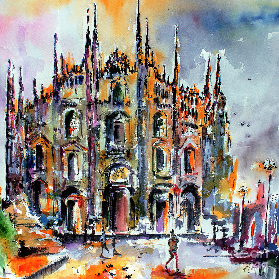 Milan Italy Cathedral Duomo Painting by Ginette Callaway