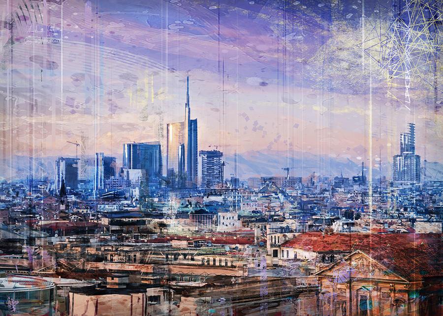 Milan Panorama Digital Art