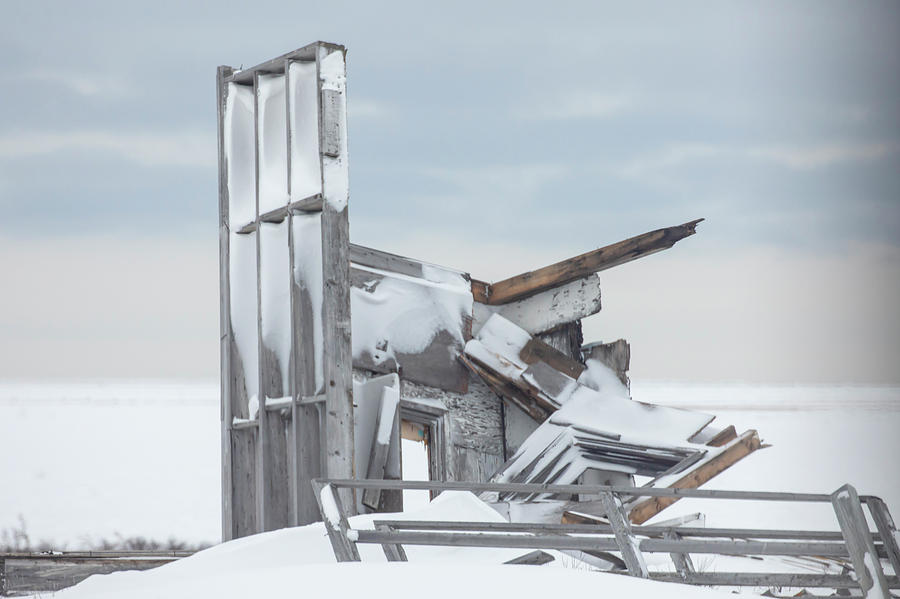 Military observation post ruins close up  by Karen Foley