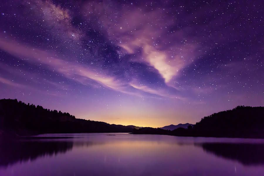 Milky way and Starry sky scene, South China Photograph by Heibaihui