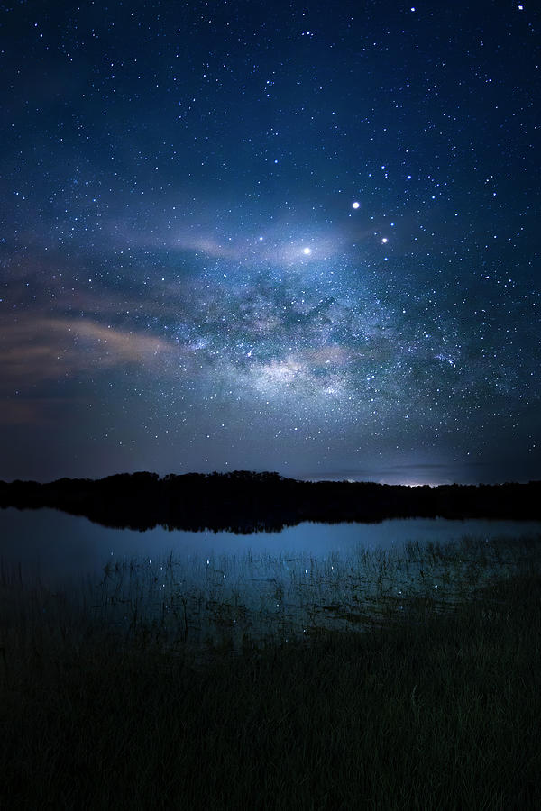 Milky Way Photograph - Milky Way at 9 Mile Pond by Mark Andrew Thomas